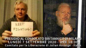 Presidio a Milano per la libertà di Julian Assange