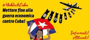 Appello contro il blocco a Cuba