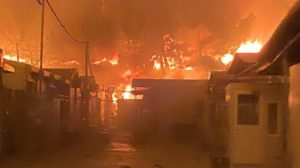 Moria I: Large part of the camp set on fire yesterday night