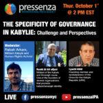 La spécificité de la gouvernance en Kabylie : défis et perspectives