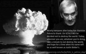 Petition: Gedenken an  Petrow, den Verhinderer einer nuklearen Weltkatastrophe