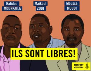 Niger, libertà provvisoria dopo sei mesi per tre attivisti