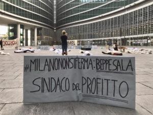 """Cacciamoli!"""" Flash mob a Milano delle Brigate volontarie per l'emergenza"""
