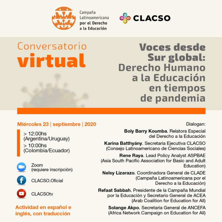Voces desde el Sur Global: Derecho Humano a la Educación en tiempos de pandemia