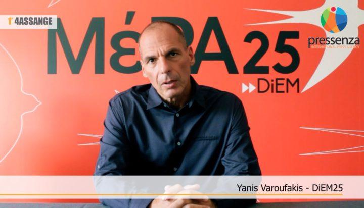 #FREEASSANGE: Testemunho em vídeo de Yanis Varoufakis