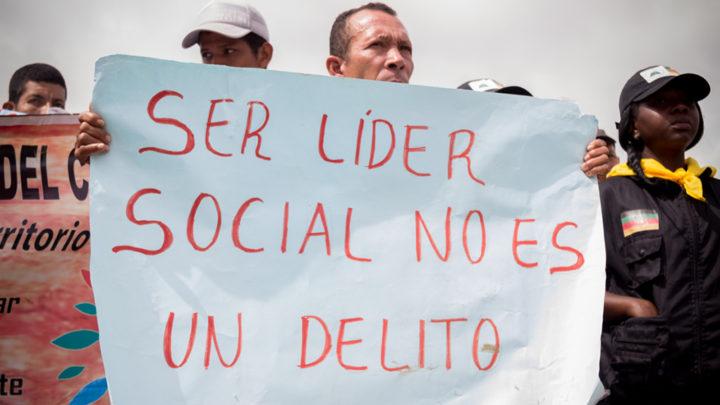 Ser lider social no es un delito