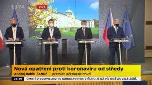 Covid19, precipita la situazione in Repubblica ceca. Il governo lancia l'allarme