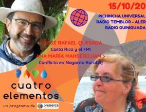 Cuatro Elementos del 15/10/2020 Nagorno Karabaj y Costa Rica