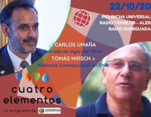 Cuatro Elementos 29/10/2020 Plebiscito Constitucional en Chile y Tratado de Prohibición de Armas Nucleares