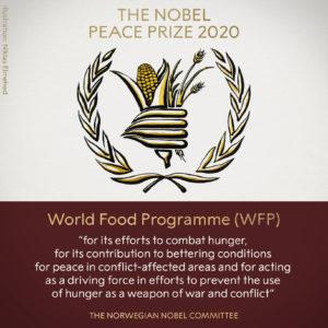 Le prix Nobel de la paix 2020 est décerné au Programme alimentaire mondial des Nations Unies