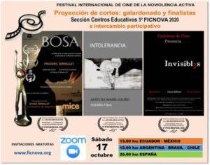Este sábado 17 comienza la 5ta versión del FICNOVA (Festival de Cine por la No Violencia Activa)