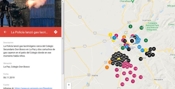 Presentaron mapa interactivo de vulneraciones de Derechos Humanos en Bolivia