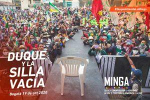 Colômbia: Minga emitiu sentença contra o presidente Iván Duque Márquez