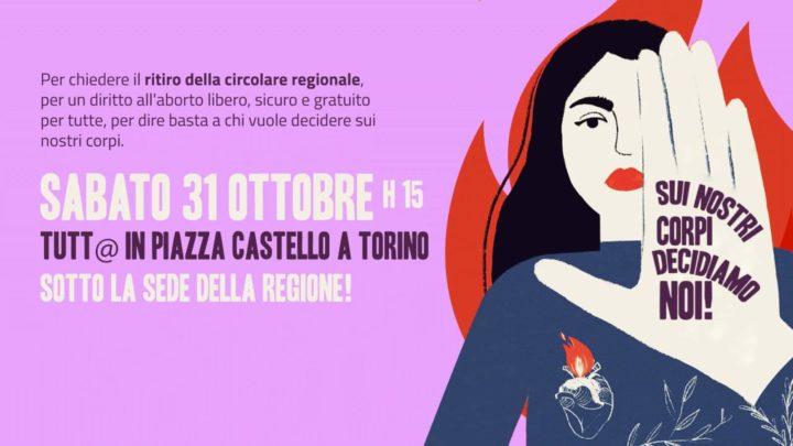 Appello regionale per la manifestazione del 31 ottobre sotto la Regione Piemonte