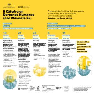 II Cátedra de Derechos Humanos José Aldunate S.J.