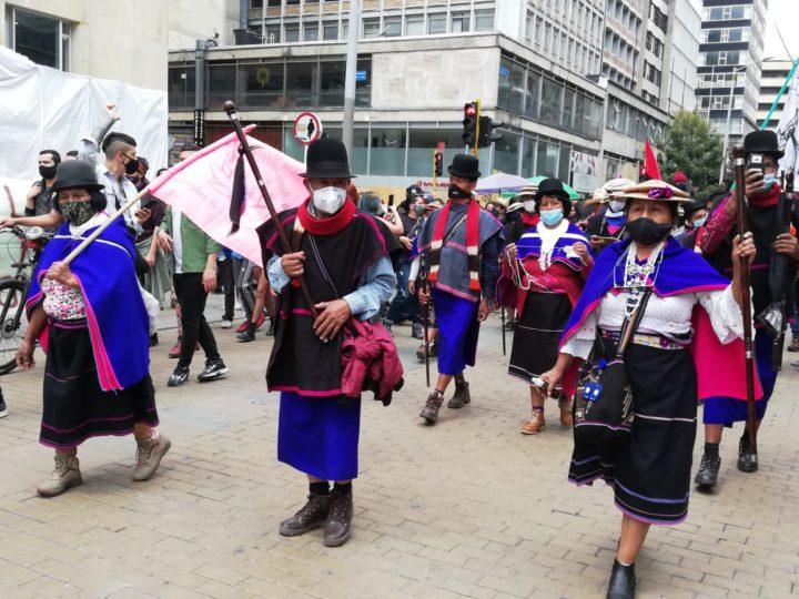Minga marcha en Bogotá