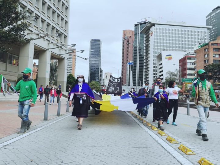 Minga marcha en Bogotá en Paro del 21 de octubre