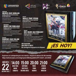 Pressenza lanza el libro «Muros que hablan. Memoria gráfica del despertar social en Santiago de Chile»