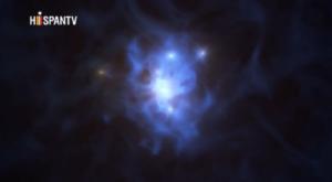 Descubren 6 galaxias atrapadas en telaraña de un agujero negro