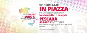 Sabato 17 ottobre anche Pescara scende in piazza #dallapartedeidiritti