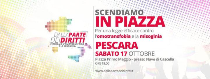 #dallapartedeidiritti, locandina manifestazione Pescara