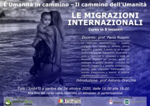 L'umanità in cammino, il cammino dell'umanità: le migrazioni internazionali. Corso a Varese