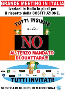Raduno di protesta degli ivoriani residenti in Italia