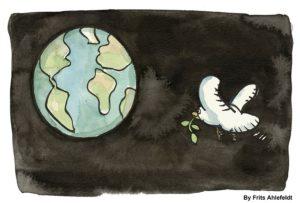 """""""Savaşlar aynı zaman ekolojik yıkımdır. Barış, hemen şimdi!"""""""