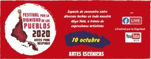 Festival por la Dignidad de los Pueblos: Artes para respirar