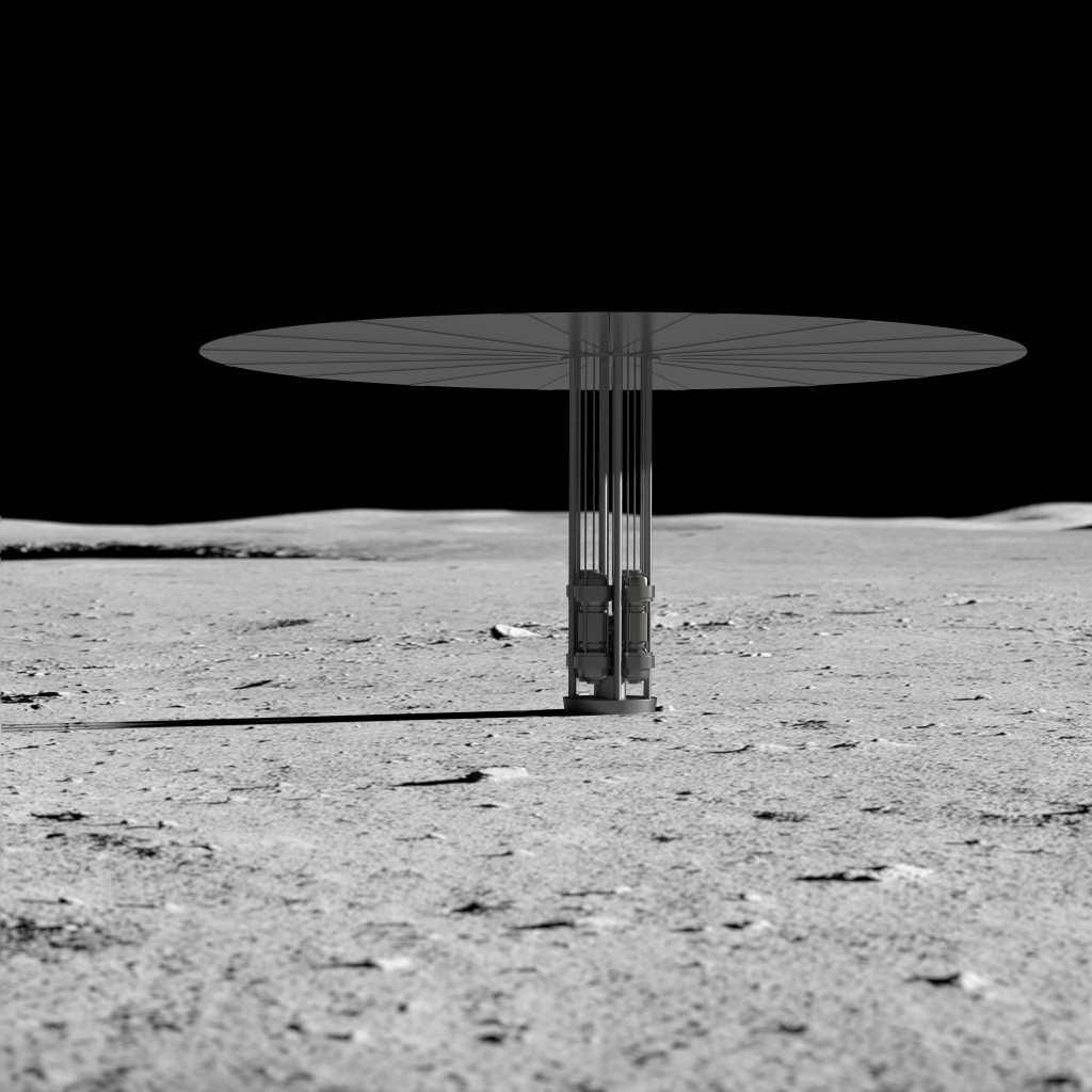 Η ιδέα για το νέο σύστημα ισχύος σχάσης στην σεληνιακή επιφάνεια / Credits: NASA