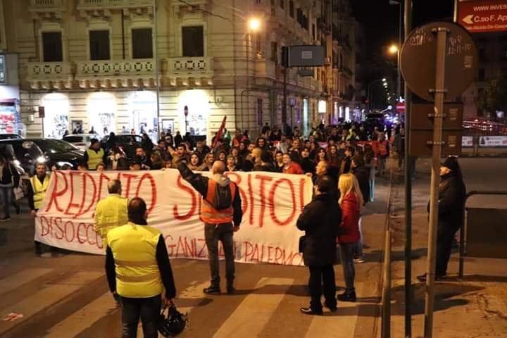 Palermo: mobilitazioni socio-sindacale: lavoratori e disoccupati in piazza