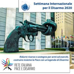 Inizia la settimana internazionale per il Disarmo:costruire insieme strade di Pace
