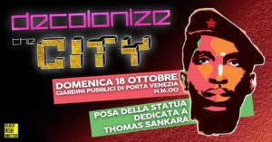 Thomas Sankara ai Giardini di Porta Venezia