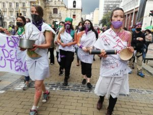 25N. La capitale colombienne s'habille en violet