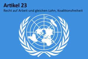 Arbeit und gleicher Lohn – ein Menschenrecht nach Artikel 23