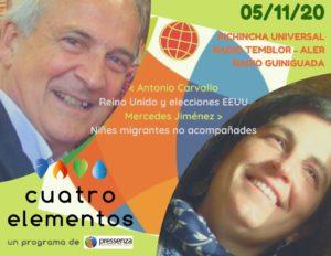 Cuatro Elementos del 05/11/2020 Niñes migrantes no acompañades y crisis del Laborismo en Reino Unido