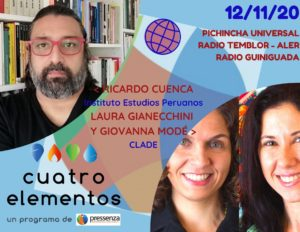 Cuatro Elementos del 12/11/2020 Crisis política en Perú y Educación en Latinoamérica