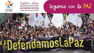 Colombia: plataforma Defendamos la Paz solicita que el Consejo de Seguridad de la ONU, pida al Gobierno mayor compromiso con la implementación del acuerdo de paz