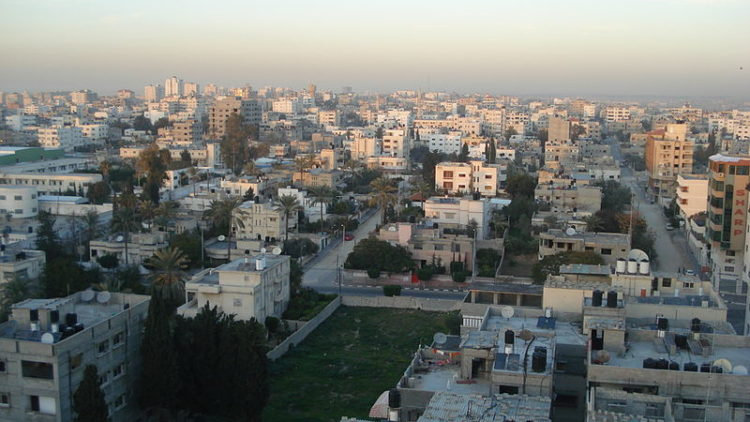 A view of Gaza city in 2009