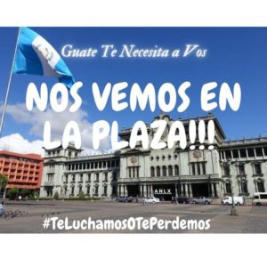 Guatemala es nuevamente escenario de protestas en contra de la corrupción