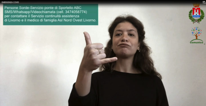 """Livorno:  dal vademecum """"Covid-Cosa devo fare"""" un video nella lingua dei segni"""