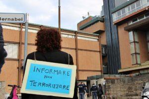 Presidio cittadino davanti la sede Rai di Firenze: Informare e non terrorizzare