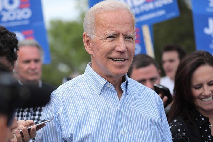 Joe Biden at a march from Molly McGowan Park in Clear Lake, Iowa. August 2019