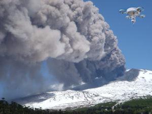 Drones con nuevas tecnologías para pronosticar erupciones volcánicas