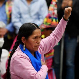 Η αυτόχθονη φεμινίστρια-ακτιβίστρια Sabina Orellana υπουργός Πολιτισμού στην Βολιβία