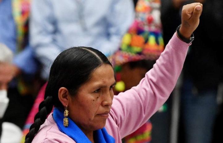 Bolivya   Sabina Orellana Cruz; Kültür, Dekolonizasyon ve Depatriarkalizasyon Bakanı