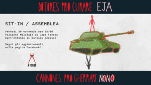 Stop esercitazioni militari in Sardegna: e i soldi risparmiati… vadano alla sanità pubblica!