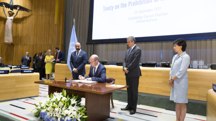 Signing ceremony for the Treaty on the Prohibition of Nuclear Weapons, 2017, UN New York