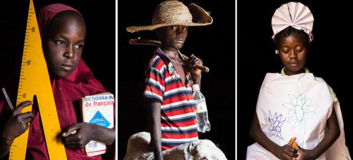 Vom Präsidenten bis hin zum Schäfer – Die Traumberufe von vertriebenen Kindern in der Sahelzone