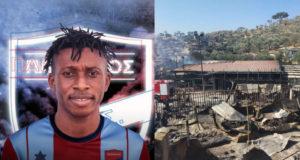 Moria Kampı'ndan bir mülteci Atina'daki futbol kulübü ile sözleşme imzaladı